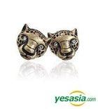 Block B Style - Leopard Earrings (Gold Burnishing)