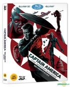 Captain America: The Winter Soldier (2014) (Blu-ray) (2-Disc) (3D + 2D Combo Pack) (Korea Version)