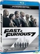 Fast & Furious 7 (2015) (Blu-ray) (Hong Kong Version)