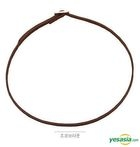 G-DRAGON Style - Slim Belt Choker Necklace (Choco Brown)