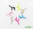 BEAST : Yong Jun Hyung Style - Solid Giraffe Earrings (Blue)