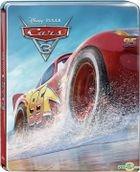 Cars 3 (2017) (Blu-ray) (3D + 2D) (3-Disc Edition) (Steelbook) (Taiwan Version)