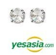 BEAST : Yoon Doo Jun Style - Black Cutting Earrings (White)