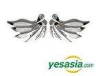 EXO Style - Unique Heart Wing Earrings (Silver)