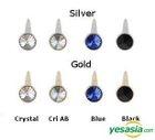 Infinite Sung Gyu Style - Crystal Balt Single Earring (Gold / Crystal)