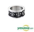 G-Dragon & Vixx Style - Black Peace Hearts Ring (Shield) (US Size: 10 - 10 1/2)