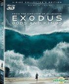 Exodus: Gods and Kings (2014) (Blu-ray) (3D) (3-Disc Edition) (Hong Kong Version)