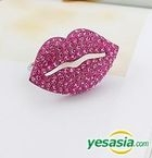Block B Style - Bling Lips Two Ring (Pink)