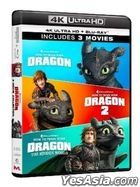 How to Train Your Dragon 3-Movie Collection (4K Ultra HD + Blu-ray) (6-Disc Edition) (Hong Kong Version)