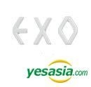 EXO Style - Simple Initial Earrings (3pcs) (White)