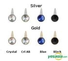 Infinite Sung Gyu Style - Crystal Balt Single Earring (Gold / Blue)