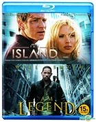 Island + I am Legend (Blu-ray) (Double Pack) (Limited Edition) (Korea Version)