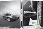Fast & Furious 7 (2015) (Blu-ray) (Steel Case - Wheel) (Taiwan Version)