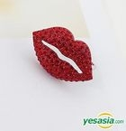 Block B Style - Bling Lips Two Ring (Red)