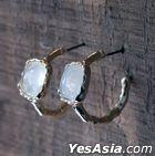 BTS : Jimin Style - Parmin Earrings (White Pair)