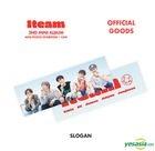 1TEAM '2nd Mini Album Mini Photo Exhibition + Cafe' Official Goods - Slogan