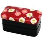 Hakoya Nunobari 2 Layers Lunch Box Red Flower
