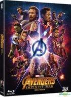 Avengers: Infinity War (2D + 3D Blu-ray) (2-Disc) (Combo Edition) (Korea Version)
