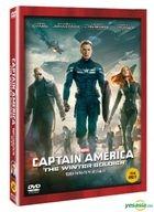 Captain America: The Winter Soldier (2014) (DVD) (Korea Version)