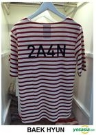 EXO - Stardium Playground Stripe T-Shirt (Baek Hyun / Red) (One Size)