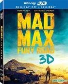 Mad Max: Fury Road (2015) (Blu-ray) (3D + 2D) (2-Disc Lenticular) (Hong Kong Version)