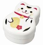 Hakoya Maruko 2 Layers Lunch Box White Cat