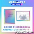 KCON:TACT 3 Official MD - Behind Photobook & Sticker Coloring Set (ATEEZ / BTOB / Dreamcatcher)