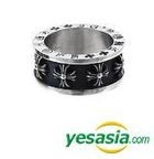 G-Dragon & Vixx Style - Black Peace Hearts Ring (Cross) (US Size: 11 - 11 1/2)