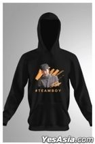 Call Me By Your Song - #Team Boy Art Hoodie (Black) (Size L)