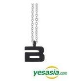 Big Bang Style - Initial Necklace (Black / Large)