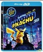 POKÉMON Detective Pikachu (2019) (Blu-ray) (2D + 3D) (Hong Kong Version)