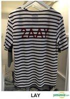 EXO - Stardium Playground Stripe T-Shirt (Lay / Black) (One Size)