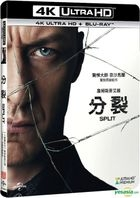 Split (2016) (4K Ultra HD + Blu-ray) (2-Disc Edition) (Taiwan Version)
