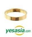 Jang Keun Suk Style - Simple Step Ring (Gold) (US Size: 5 - 5 1/2)