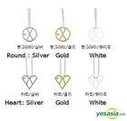 EXO Style - Unique Line Necklace (Heart) (Gold)