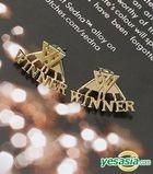 Winner Style - Twoway Simple Logo Earrings (Gold)