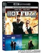 Hot Fuzz & The World's End Double Pack (4K Ultra HD + Blu-ray) (4-Disc Limited Edition) (Korea Version)