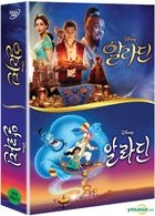Aladdin (Animation + Live Action Collection) (DVD) (3-Disc) (Korea Version)