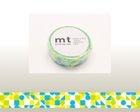 mt Masking Tape : mt 1P Circle Triangle & Square (Blue)