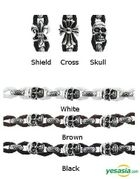 B.A.P Style - Unique Rope Bracelet (Skull / White)
