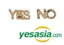 BTS & T.O.P (Big Bang) Style - YES NO Earrings (Gold)