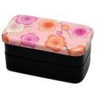 Hakoya Nunobari 2 Layers Lunch Box Pink Ume