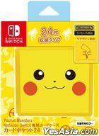 Nintendo Switch Card Case 24 Pocket Monster Pikachu (Japan Version)