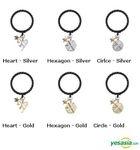 EXO Style - Monogram Ring (Hexagon / Silver / US Size: 6 - 6 1/2)