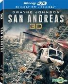 San Andreas (2015) (Blu-ray) (2D + 3D) (Lenticular) (Hong Kong Version)