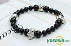 G-Dragon Style - Skull Bracelet (Onyx)