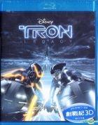 Tron Legacy (2010) (Blu-ray) (3D) (Hong Kong Version)