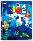 Rio 2 (2014) (Blu-ray) (2-Disc) (3D + 2D) (O-Ring Case) (Korea Version)