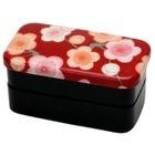 Hakoya Nunobari 2 Layers Lunch Box Red Ume