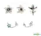 Big Bang Earring Set with Swarovski® Crystals (Silver)